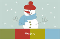 Happyholidays3 Greeting Card (55x85)